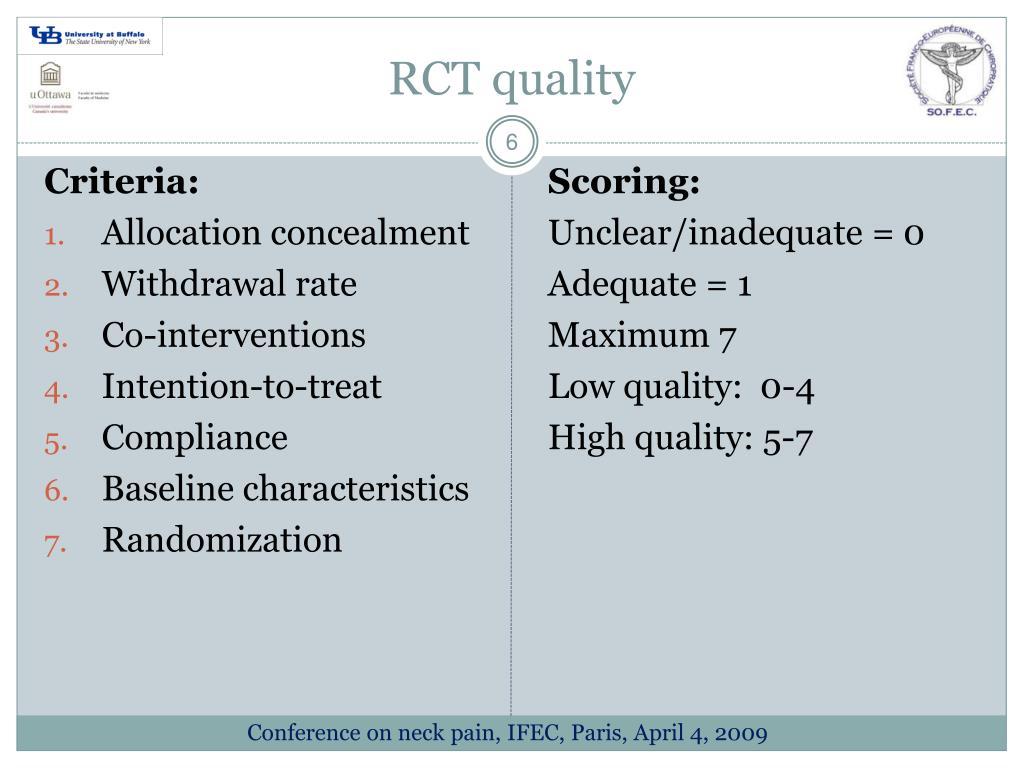 RCT quality