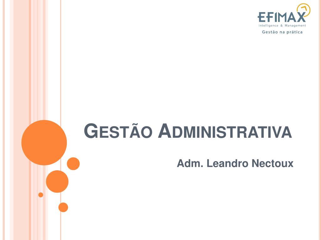 gest o administrativa l.