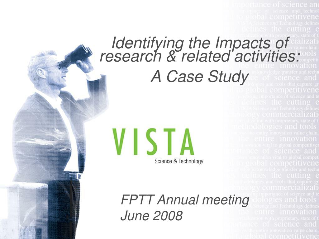 identifying the impacts of research related activities a case study l.
