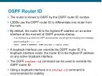 ospf router id