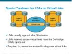 special treatment for lsas on virtual links