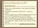 general remarks on pp attachment
