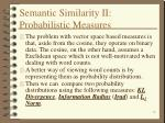 semantic similarity ii probabilistic measures