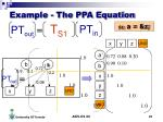 example the ppa equation