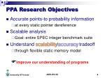 ppa research objectives