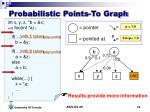 probabilistic points to graph