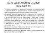 acto legislativo 02 de 2009 diciembre 29
