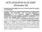 acto legislativo 02 de 2009 diciembre 2916