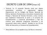 decreto 1108 de 1994 mayo 31