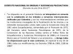 estatuto nacional de drogas y sustancias psicoactivas borrador de julio 20 de 2011
