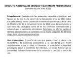 estatuto nacional de drogas y sustancias psicoactivas borrador de julio 20 de 201134