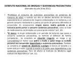 estatuto nacional de drogas y sustancias psicoactivas borrador de julio 20 de 201135