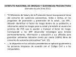 estatuto nacional de drogas y sustancias psicoactivas borrador de julio 20 de 201136