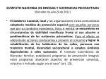 estatuto nacional de drogas y sustancias psicoactivas borrador de julio 20 de 201137
