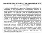 estatuto nacional de drogas y sustancias psicoactivas borrador de julio 20 de 201139