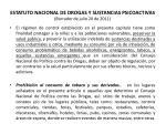 estatuto nacional de drogas y sustancias psicoactivas borrador de julio 20 de 201141
