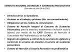 estatuto nacional de drogas y sustancias psicoactivas borrador de julio 20 de 201142