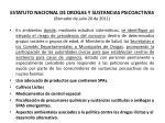 estatuto nacional de drogas y sustancias psicoactivas borrador de julio 20 de 201144