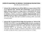 estatuto nacional de drogas y sustancias psicoactivas borrador de julio 20 de 201146