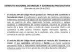 estatuto nacional de drogas y sustancias psicoactivas borrador de julio 20 de 201147