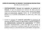 estatuto nacional de drogas y sustancias psicoactivas borrador de julio 20 de 201148