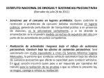 estatuto nacional de drogas y sustancias psicoactivas borrador de julio 20 de 201150