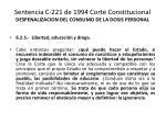 sentencia c 221 de 1994 corte constitucional despenalizacion del consumo de la dosis personal9