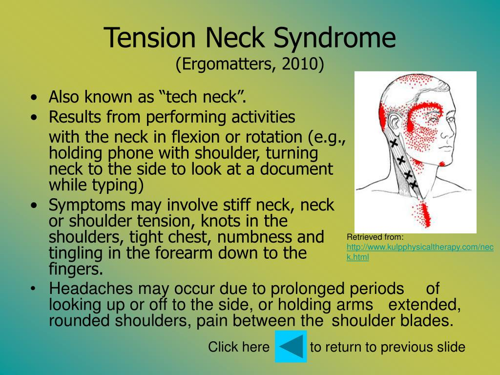 Tension Neck Syndrome