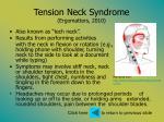 tension neck syndrome ergomatters 2010