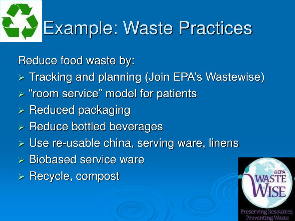 Example: Waste Practices