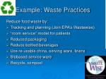 example waste practices