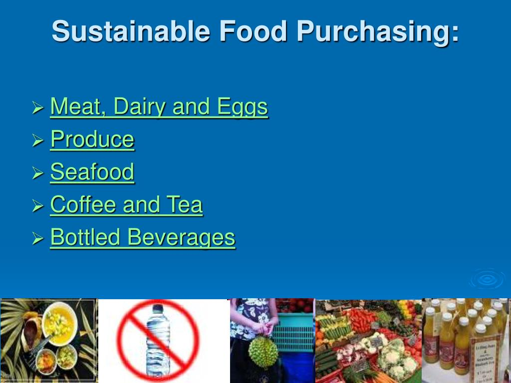 Sustainable Food Purchasing: