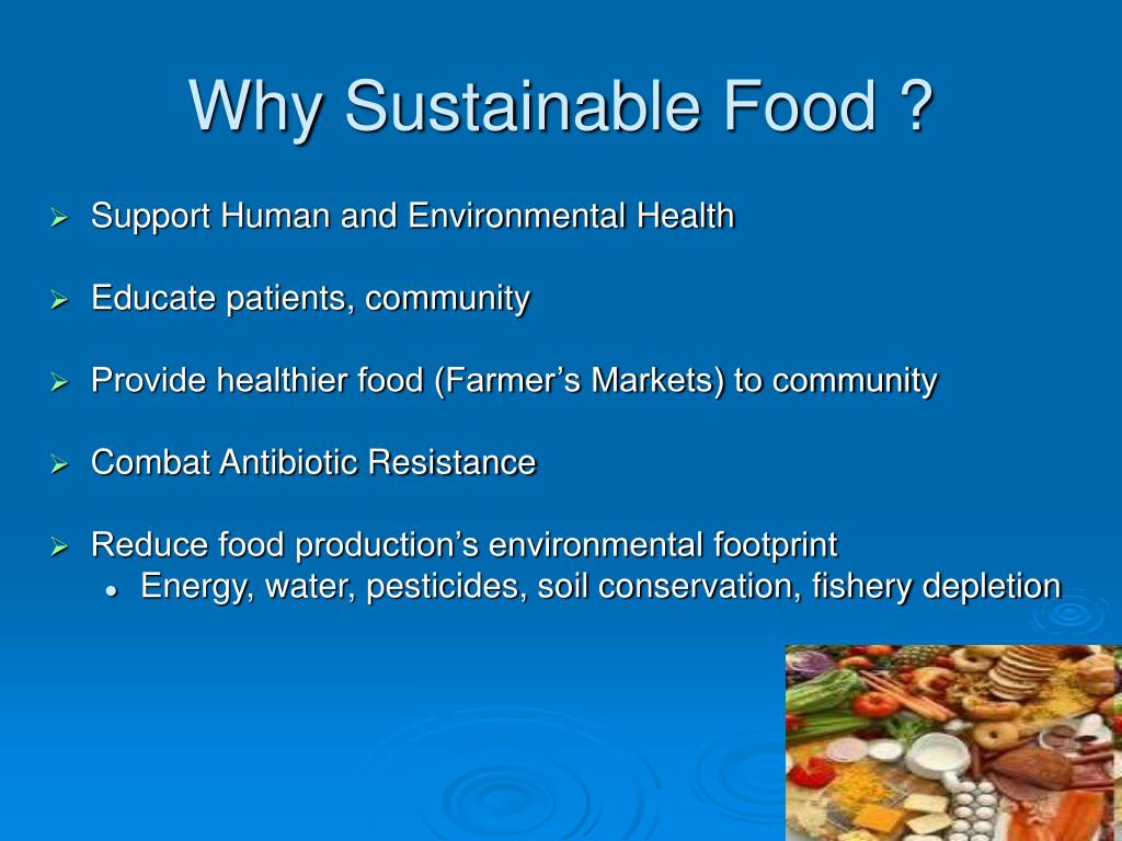 Why Sustainable Food ?