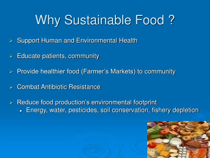 Why sustainable food