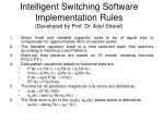 intelligent switching software implementation rules developed by prof dr adel sharaf