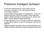 predictive intelligent software