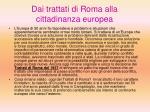 dai trattati di roma alla cittadinanza europea