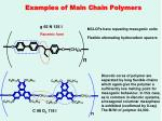 examples of main chain polymers