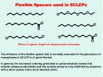 flexible spacers used in sclcps