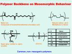 polymer backbone on mesomorphic behaviour30