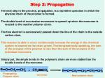 step 2 propagation