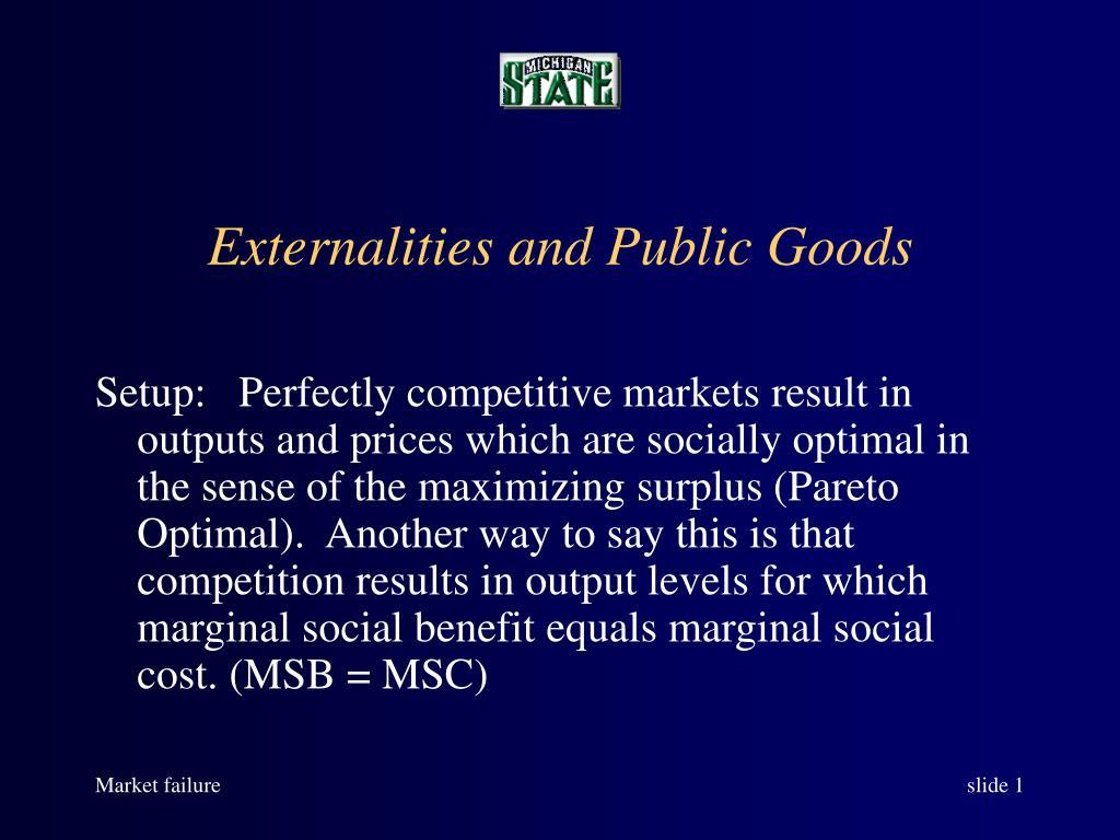 externalities and public goods l.