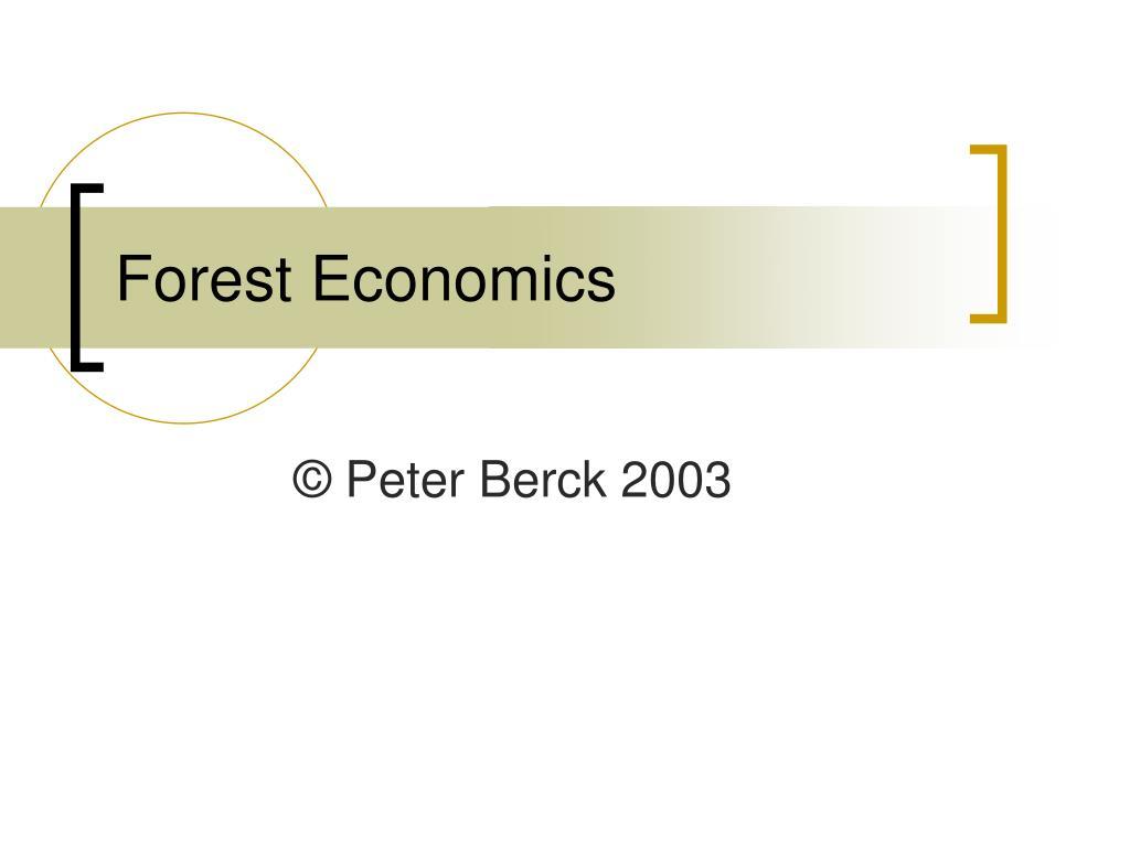 forest economics l.