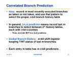 correlated branch prediction