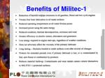 benefits of militec 1