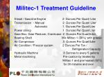 militec 1 treatment guideline