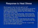 response to heat stress
