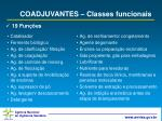 coadjuvantes classes funcionais