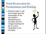 food preservation by fermentation and pickling