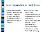 food preservation in fresh foods
